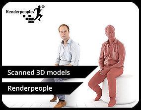 3D model Max 0063 Sitting Man