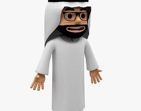 3D asset Arab cartoon character