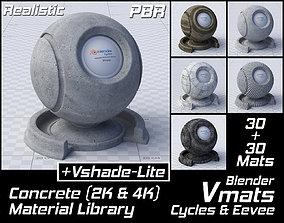 VMATS Concrete Material Library for Blender 3D model 2