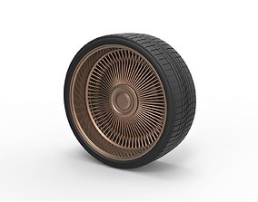 3D printable model Diecast wire wheel 5 Scale 1 to 10