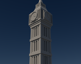 3D model Elizabeth Tower - Big Ben