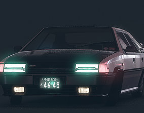 3D model game-ready Lowpoly Retro 1980s Sport Hatchback