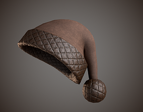 3D asset Leather Santa Hat