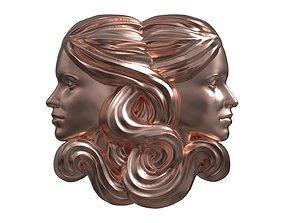 Gemini or Twins pendant 3D print model