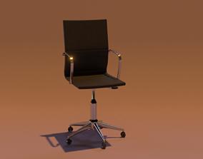 Office Chair 3D asset VR / AR ready pillow