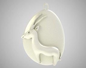 3D printable model Rock Gazelle Necklace