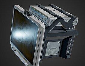 3D model sci-fi Sci-Fi Terminal PBR game-ready asset