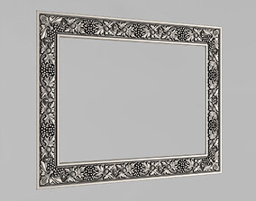 3D printable model Frame mirror with grape vine