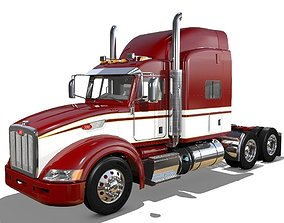 3D model 386 Semi Truck