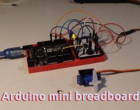 Arduino Uno tiny pratical breadboard 3D printable model