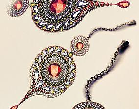 indian head jewellery 3D