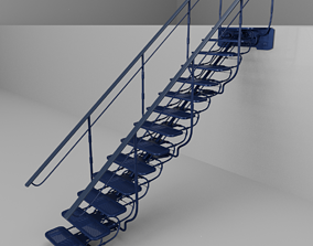 Sci Fi Stairs V1 3D model