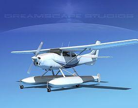 3D model Cessna 182 Skylane Seaplane V05