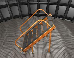 3D asset Sci-Fi Stairs - 20- Orange Version