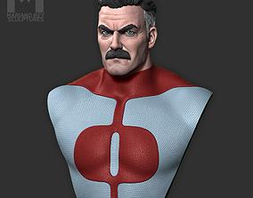 3D printable model OMNIMAN Nolan Grayson Bust - Invincible