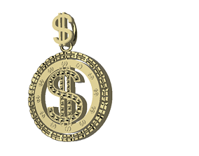 Dollar sign Pendant 3D printable model
