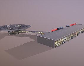 Airport Terminal UUEE Terminal Glass 3D asset game-ready