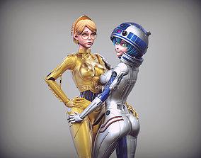 C3PO - R2D2 - Star Wars - Fan 3D printable model