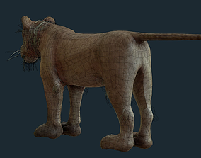 3D asset Lioness for Games and Film