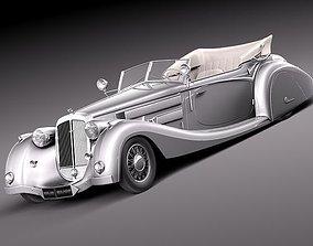 3D model horch 853a voll ruhrbeck 1937 convertible