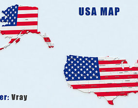 United States Map 3D