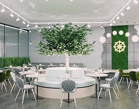 Vegan Restaurant moden style 3D model