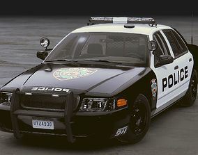Realistic Police 01 3D asset