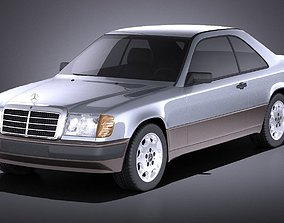 Mercedes-Benz E class W124 Coupe 1990 VRAY 3D model