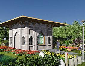 Mini mosque 3D asset