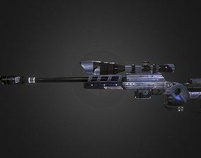 Tpg1-spaceship Gun-weapon model 3D asset