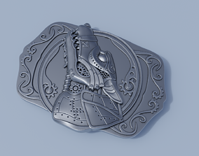 Steampunk Belt Buckle 3D printable model