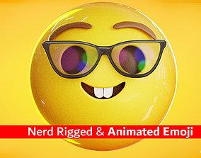 Nerd Face Animated Emoji Reaction 3D model