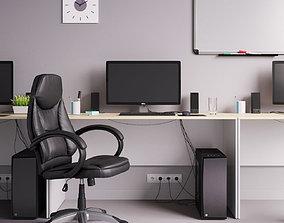 screen Workplace Office Set 3D