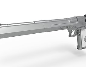 3D Long Desert Eagle Pistol of Peacemaker from Suicide 1