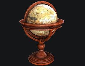 Standing World Globe PBR 3D model