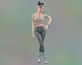 Hot Candy Behr Female Model rigged Animated animated