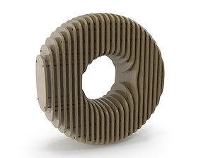 Wood symbol 0 3D model