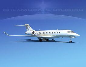 3D model Bombardier Global 5000 V04