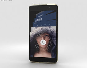smartphone 3D model Alcatel Idol 4 Gold