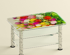 3D model furniture Glass coffee table
