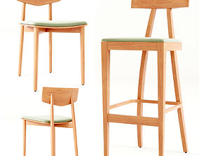 3D Dining Chair by James Mont