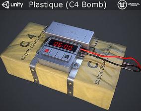 3D asset VR / AR ready Plastique C4 Bomb