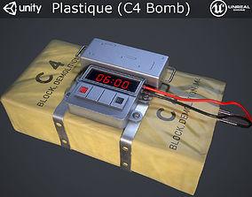 3D asset Plastique C4 Bomb