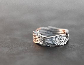 3D printable model ring Wings