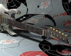 3D Ibanez jem7vwh Guitar