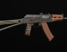 AKS-74U asset 3D model low-poly