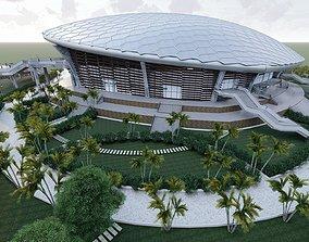 Crab Sports Stadium 3D model