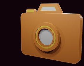 Low poly camera symbol 2 3D model