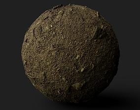 natural 3D model PBR Scanned Rocky Forest Ground
