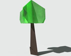 Origami Tree 3D asset